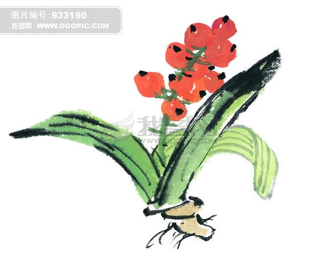 国画手绘花卉作品图片素材(图片编号:933190)_中国库