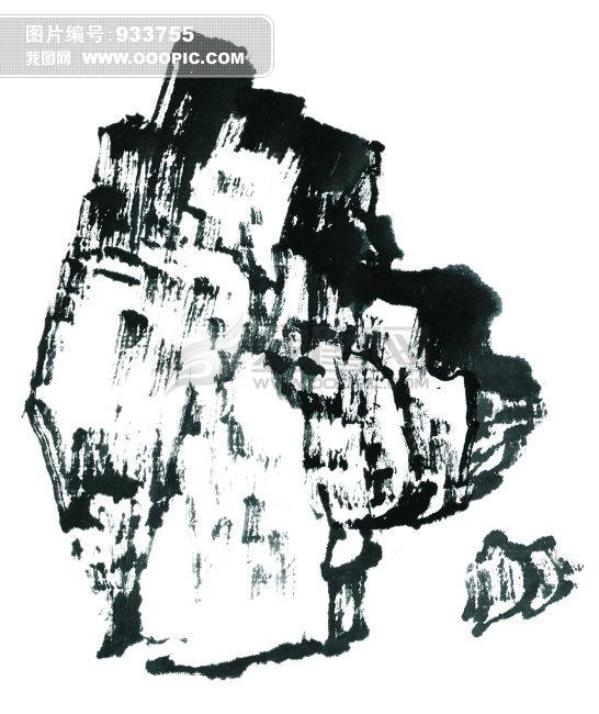 中国水墨画岩石无框画设计素材下载图片素材 933755 中国传统艺术图图片