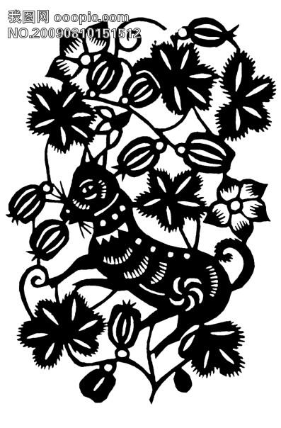 剪纸 素材 窗花 传统文化图片