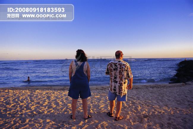 健康 休闲 户外 运动 海边 游泳 享受