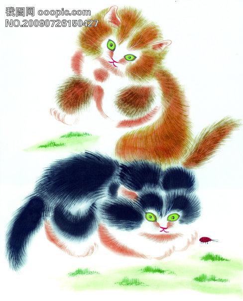 古图 绘画 动物猫 美术绘画 文化艺术图片素材