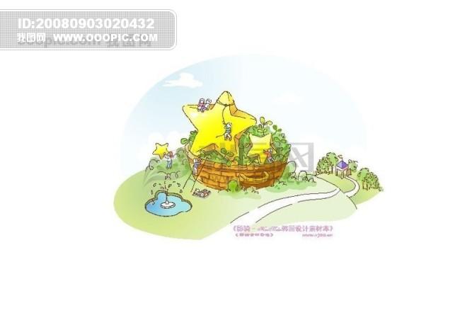卡通大树房子创意图片大全