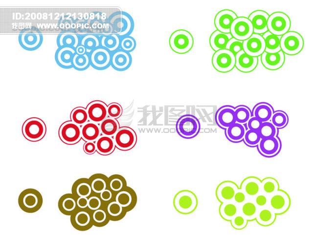 色彩 圆圈 组合 图案 ai