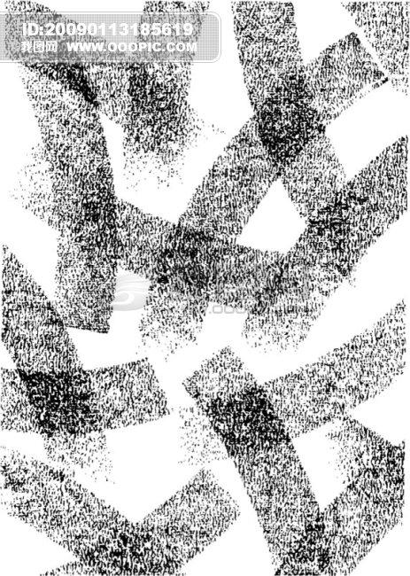 水墨画花纹边框