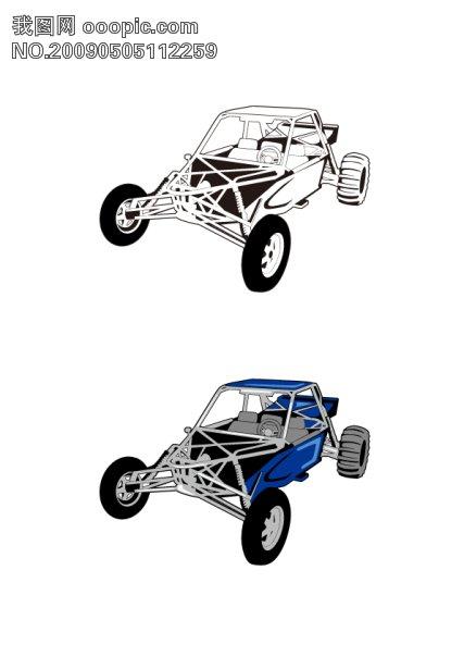 矢量素材   赛车 卡通矢量素材 赛车素材 车辆素材 矢量 汽车 摩托车