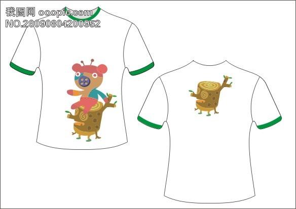 T恤模板下载 T恤插画图片素材下载 元素设计元素下载图片