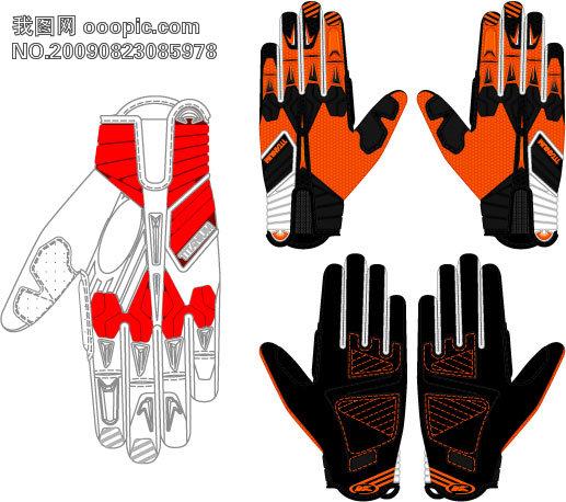 设计模板 摩托车 手套 服装 行业 摩托车 手套 微利设计 包装设计模板