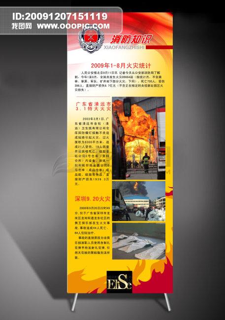 火灾事故应急处置程序展板背景图